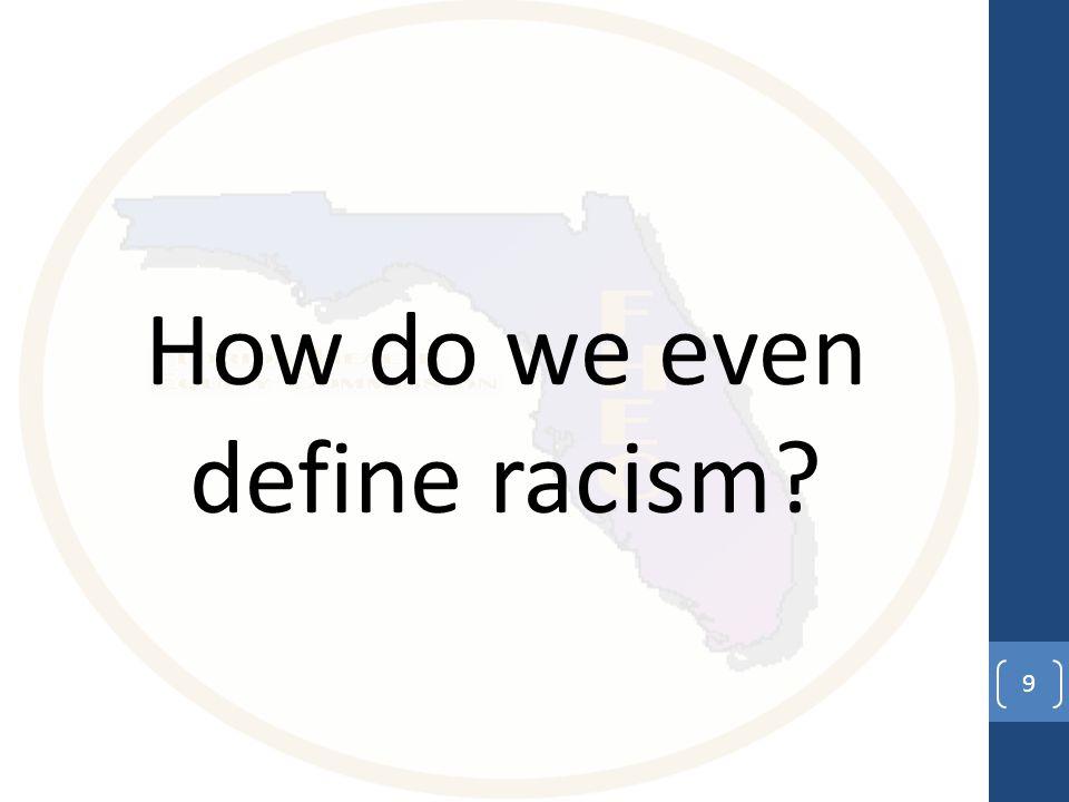 How do we even define racism 9