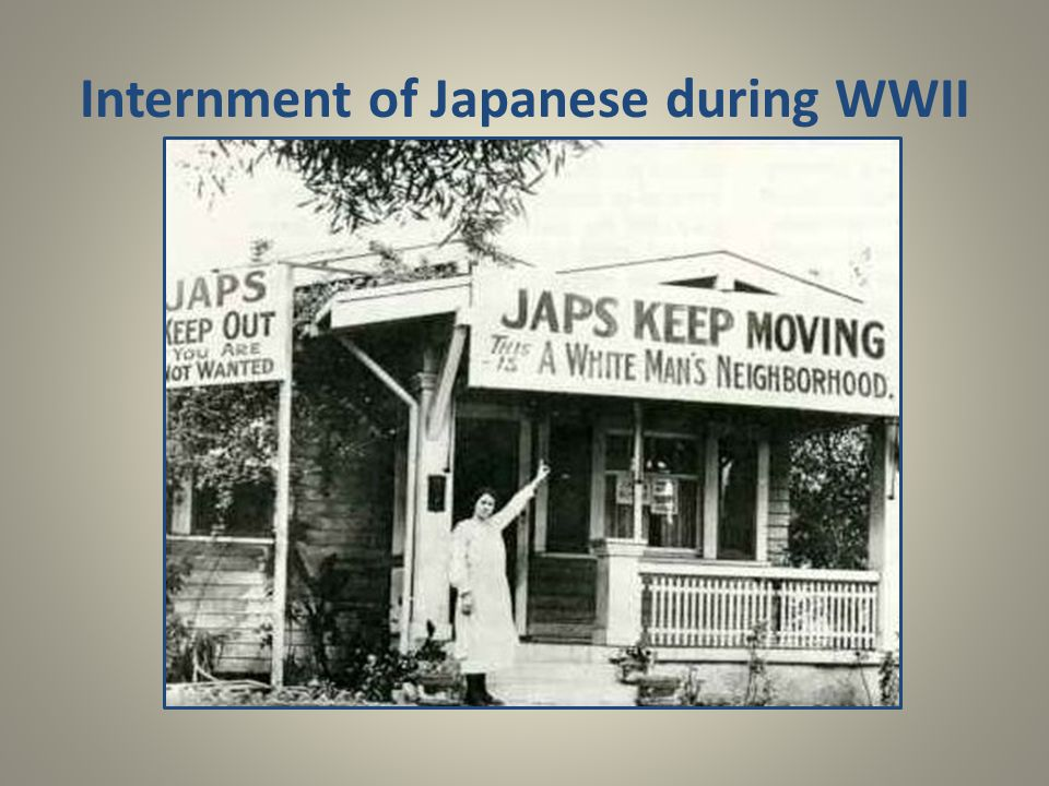 Internment of Japanese during WWII