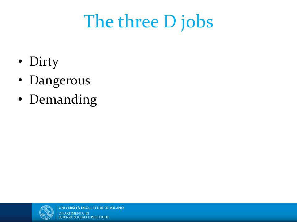 The three D jobs Dirty Dangerous Demanding