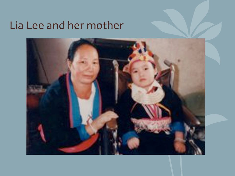Lia Lee and her mother