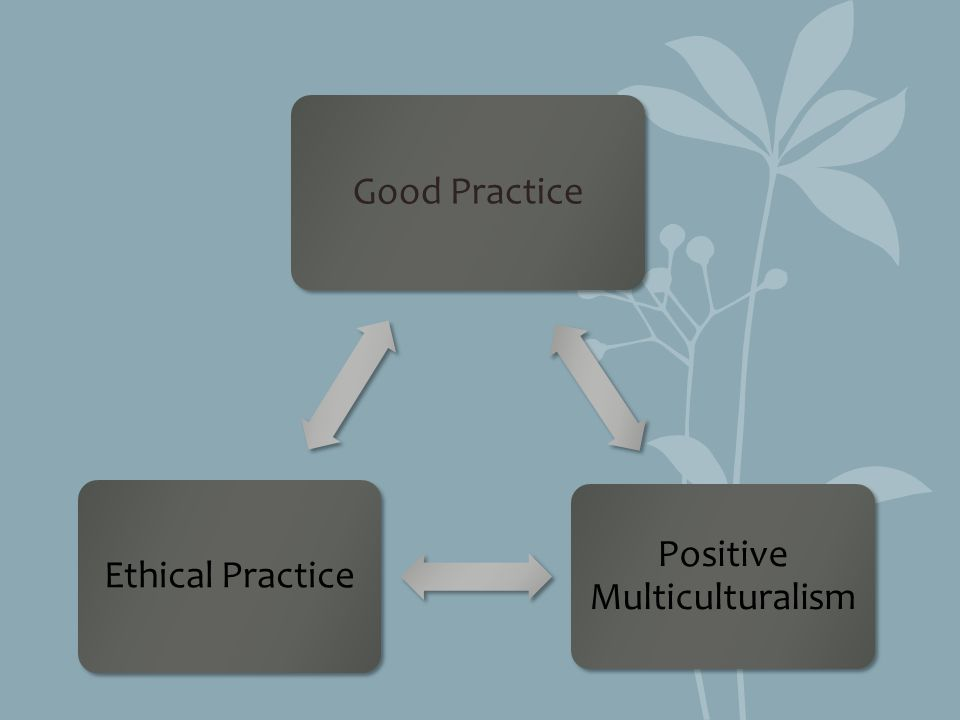 Good Practice Positive Multiculturalism Ethical Practice