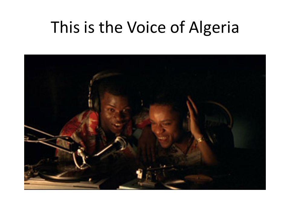 This is the Voice of Algeria