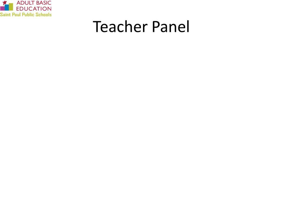 Teacher Panel