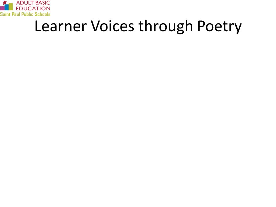 Learner Voices through Poetry