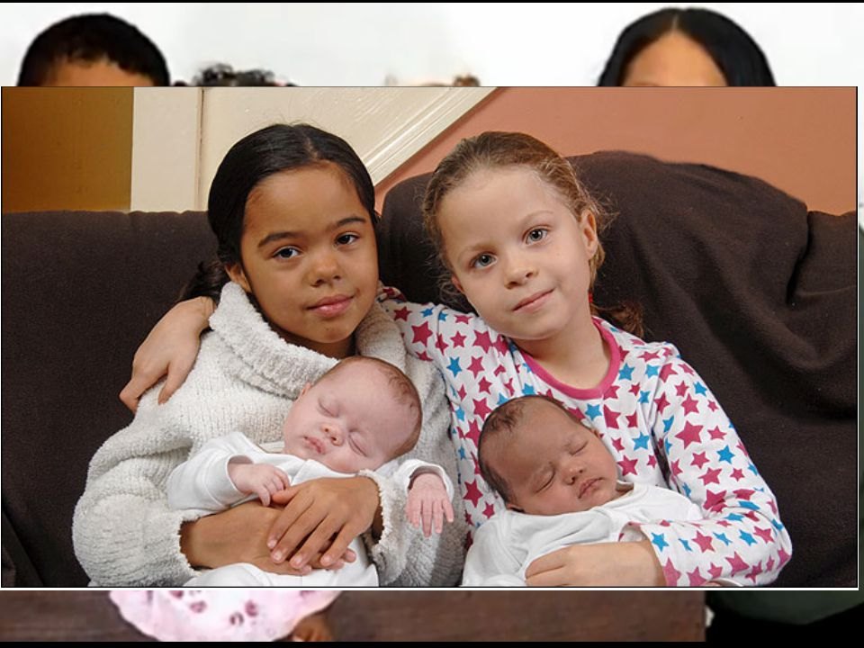 Twin Sisters —Lisa Sewards, Daily Mail (London), Saturday 26 June, 1999, p.9 Cheryl and Karen's father is ('black') Jamaican and their mother is ('white') English.