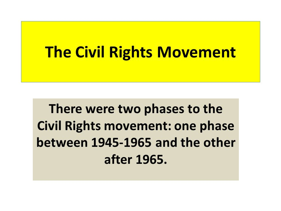 Why Did the Civil Rights Movement Take Off After 1945.