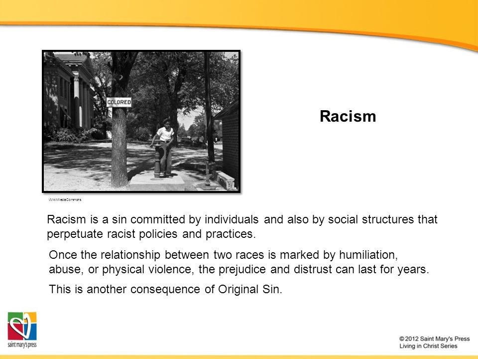 Racism WikiMiediaCommons Once the relationship between two races is marked by humiliation, abuse, or physical violence, the prejudice and distrust can last for years.
