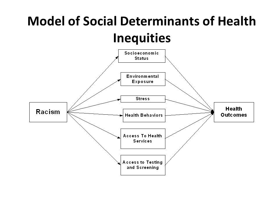 Model of Social Determinants of Health Inequities