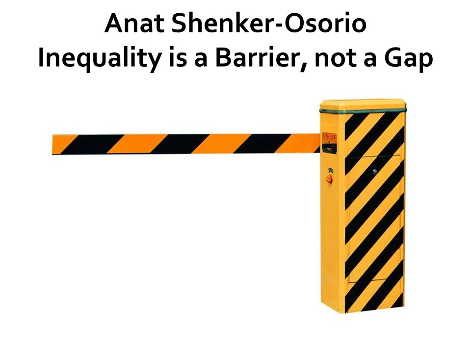 Anat Shenker-Osorio Inequality is a Barrier, not a Gap