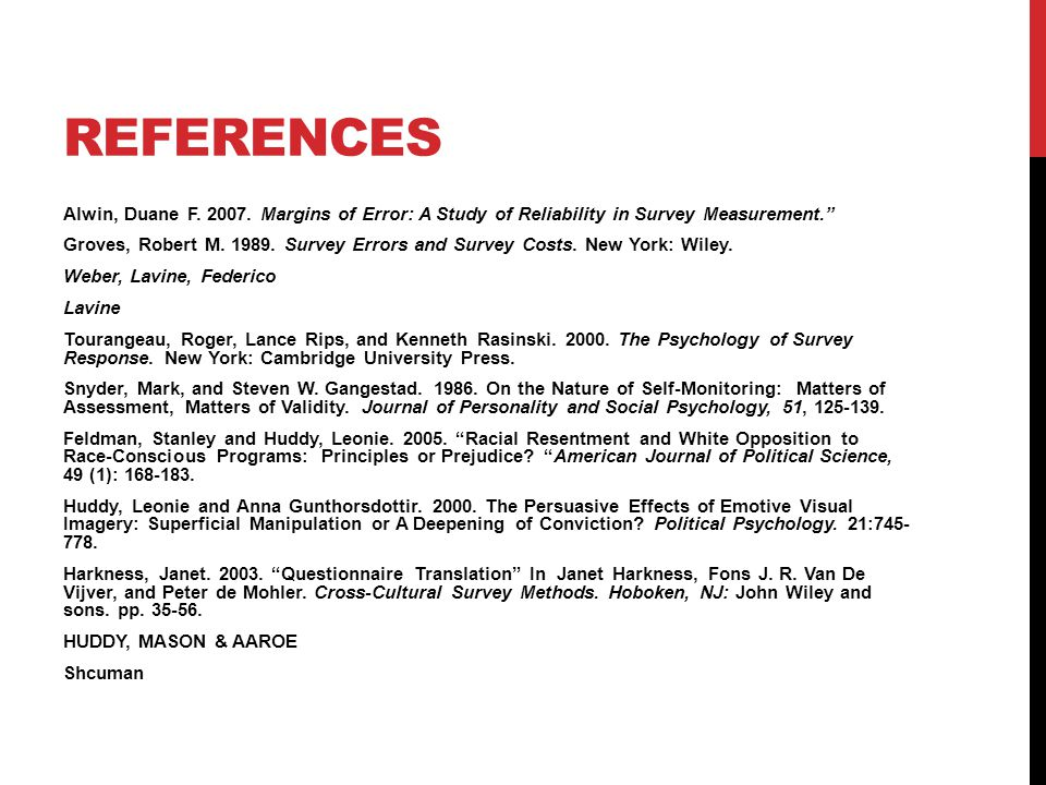 REFERENCES Alwin, Duane F. 2007.