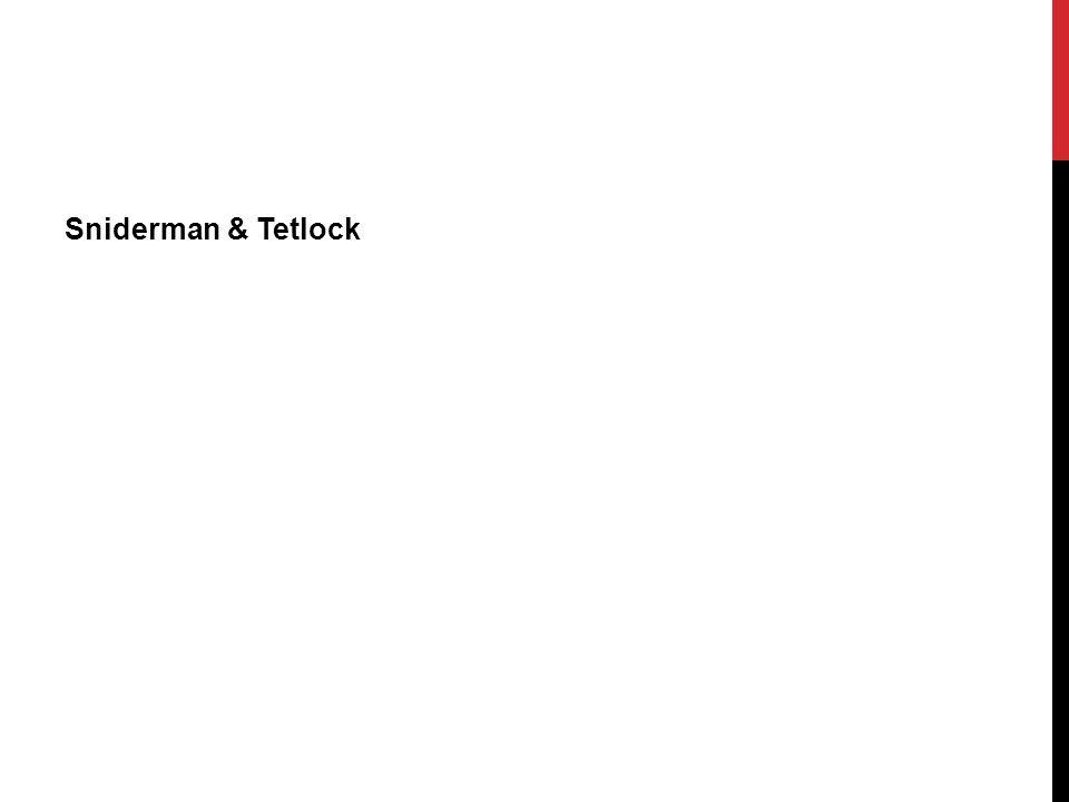 Sniderman & Tetlock