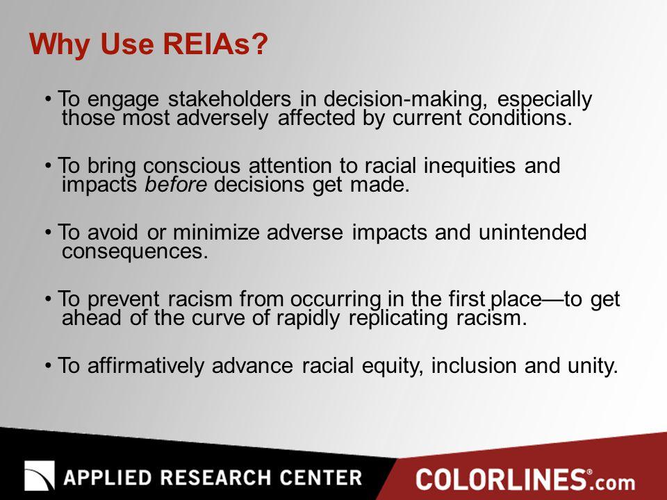Why Use REIAs.