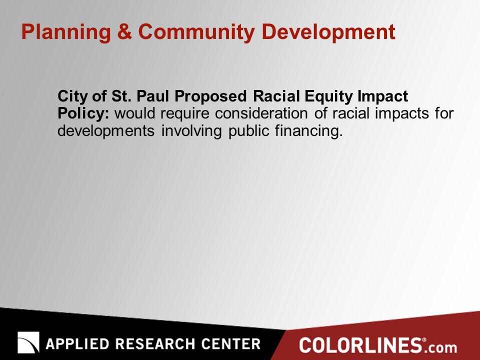 Planning & Community Development City of St.