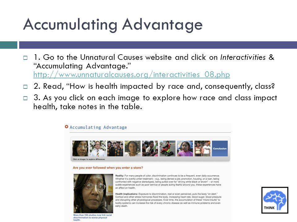 Accumulating Advantage