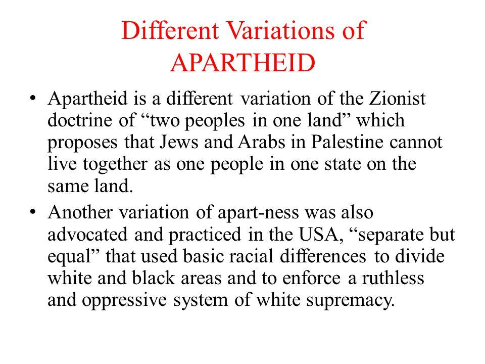 IS ISRAEL AN APARTHEID STATE.