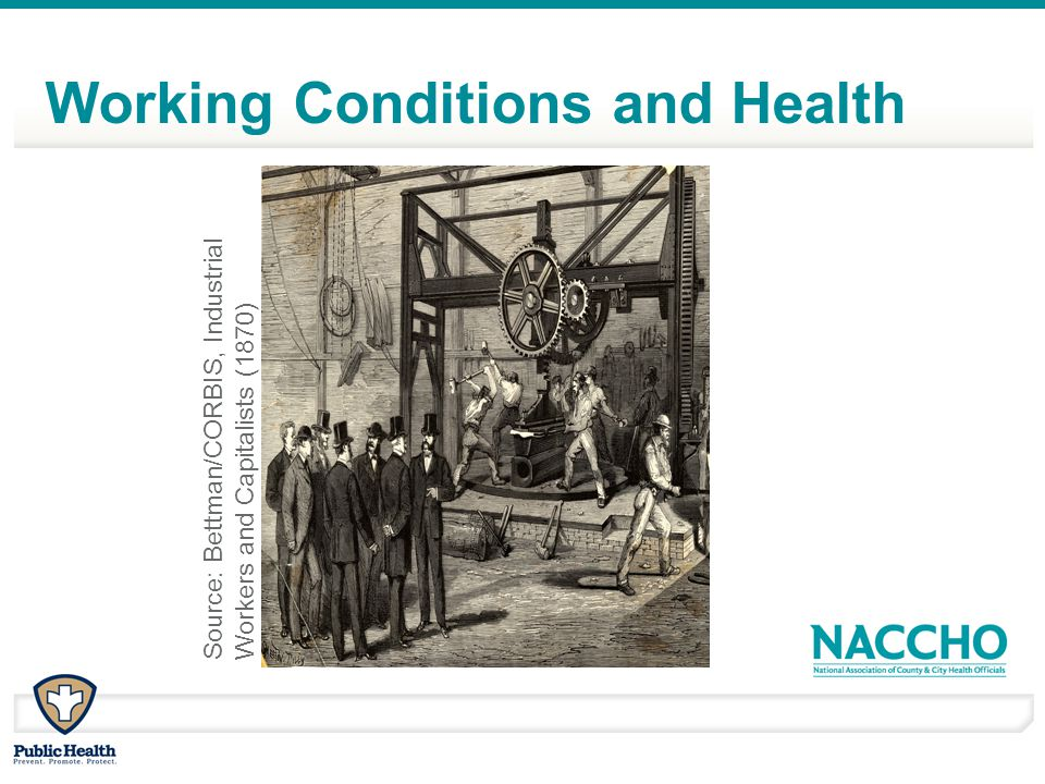 Source: Bettman/CORBIS, Industrial Workers and Capitalists (1870) Working Conditions and Health