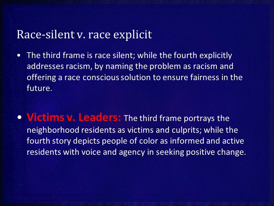 Race-silent v.