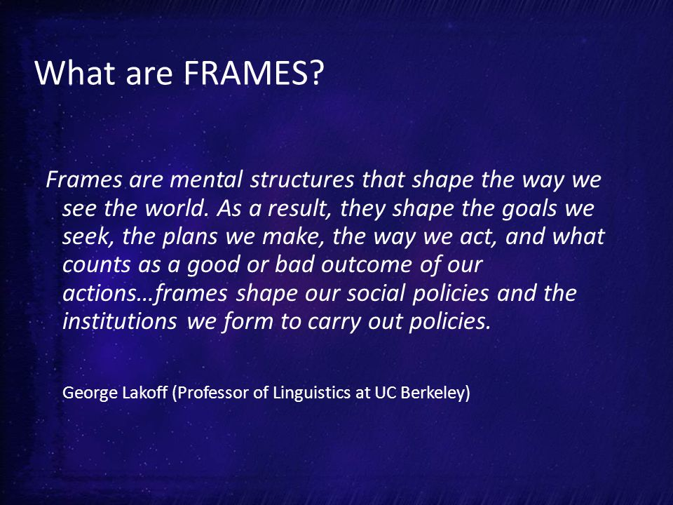 Elements of Framing What's the PROBLEM.Who/ What is RESPONSIBLE.