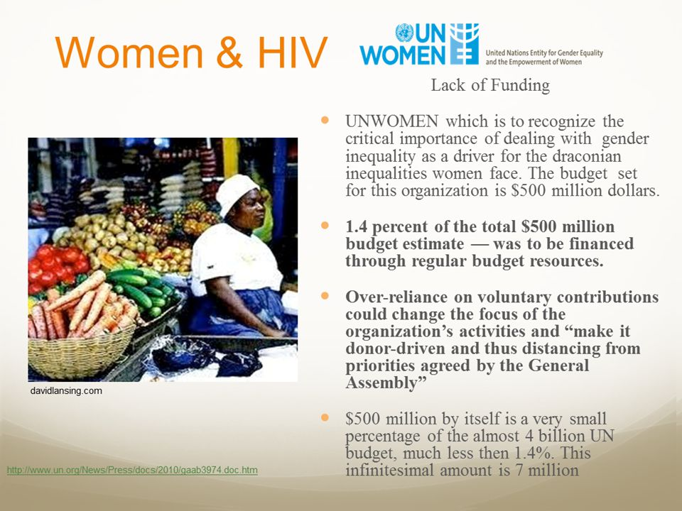 Global Fund The Global Fund itself is a driver of the neglect of women.