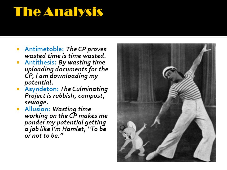  Antimetoble: The CP proves wasted time is time wasted.