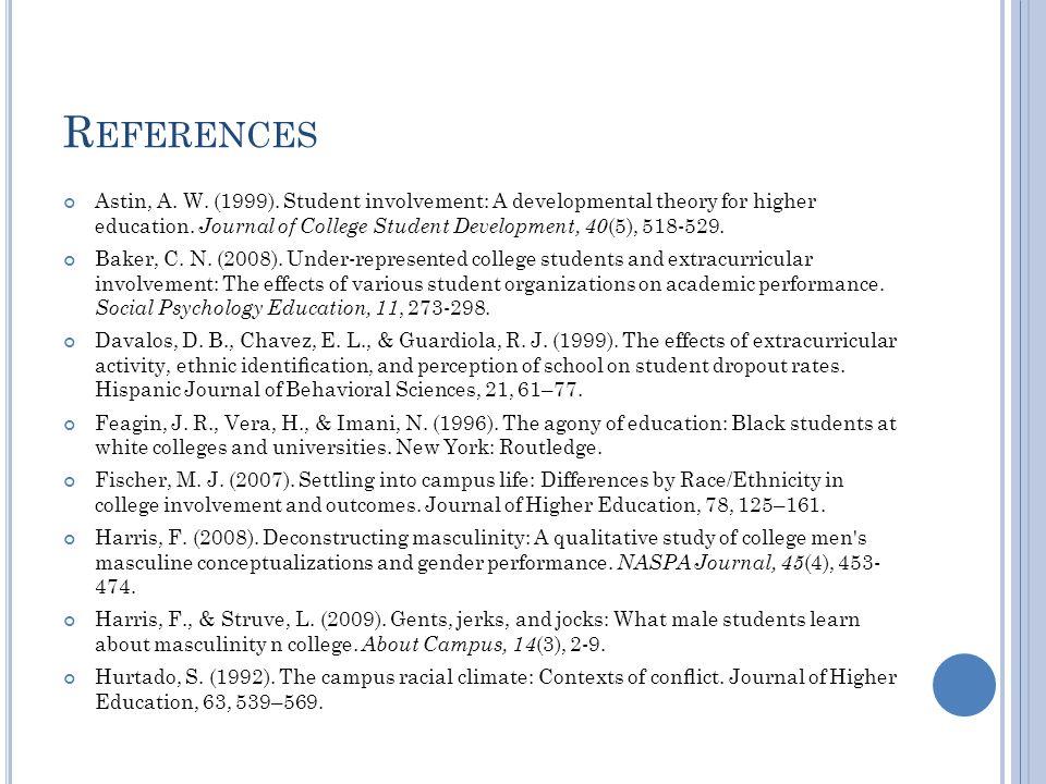 R EFERENCES Astin, A. W. (1999).