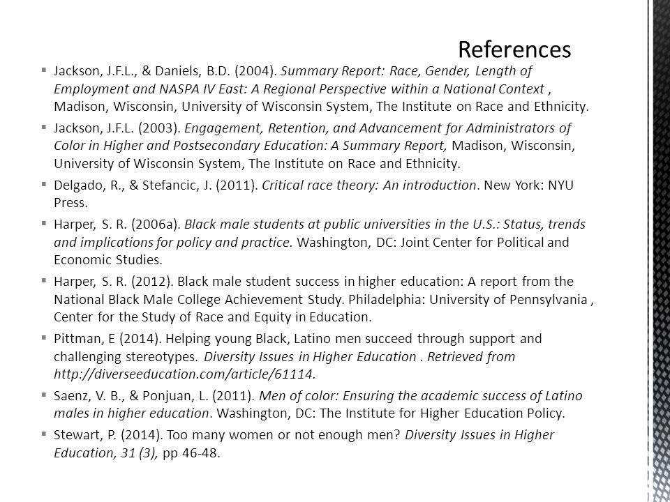  Jackson, J.F.L., & Daniels, B.D. (2004).
