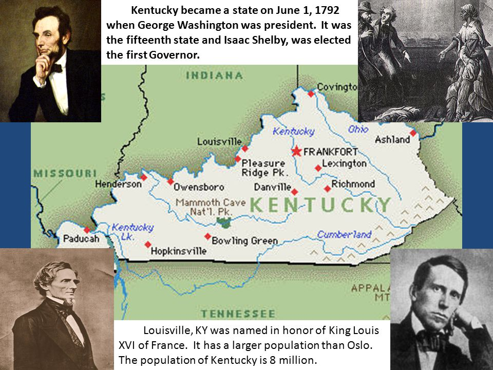 Louisville, KY was named in honor of King Louis XVI of France.