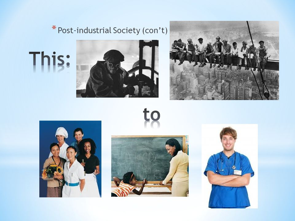 * Post-industrial Society (con't)