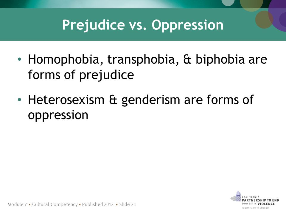 Prejudice vs.