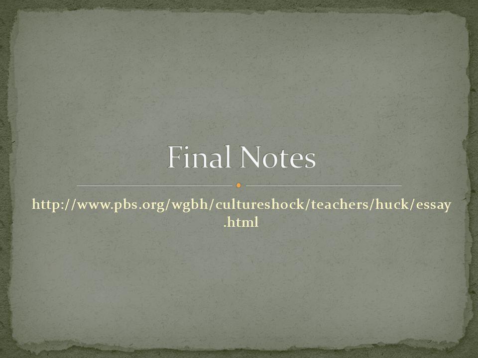 http://www.pbs.org/wgbh/cultureshock/teachers/huck/essay.html