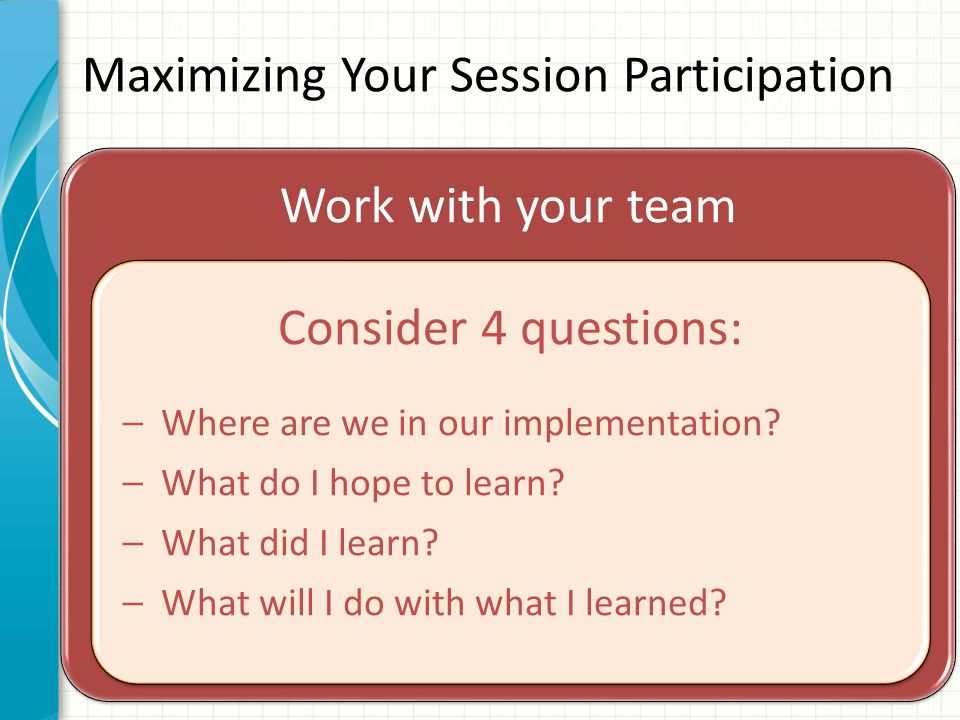 Where are you in implementation process.Adapted from Fixsen, D.