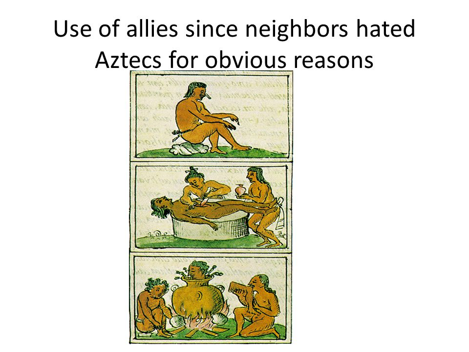 Use of allies since neighbors hated Aztecs for obvious reasons