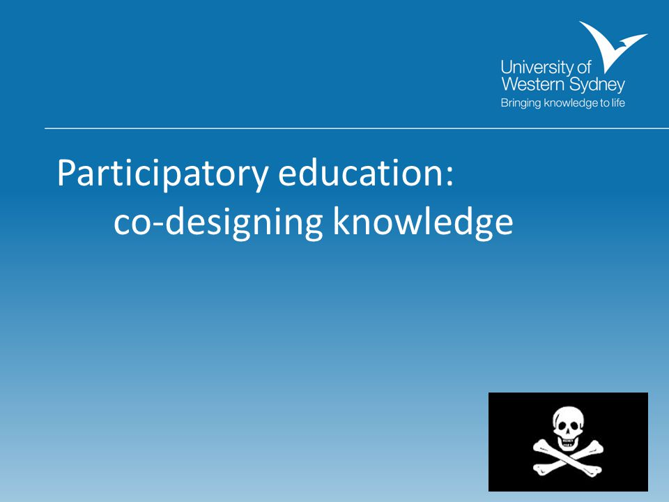 Participatory education: co-designing knowledge