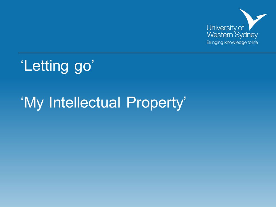 'My Intellectual Property'