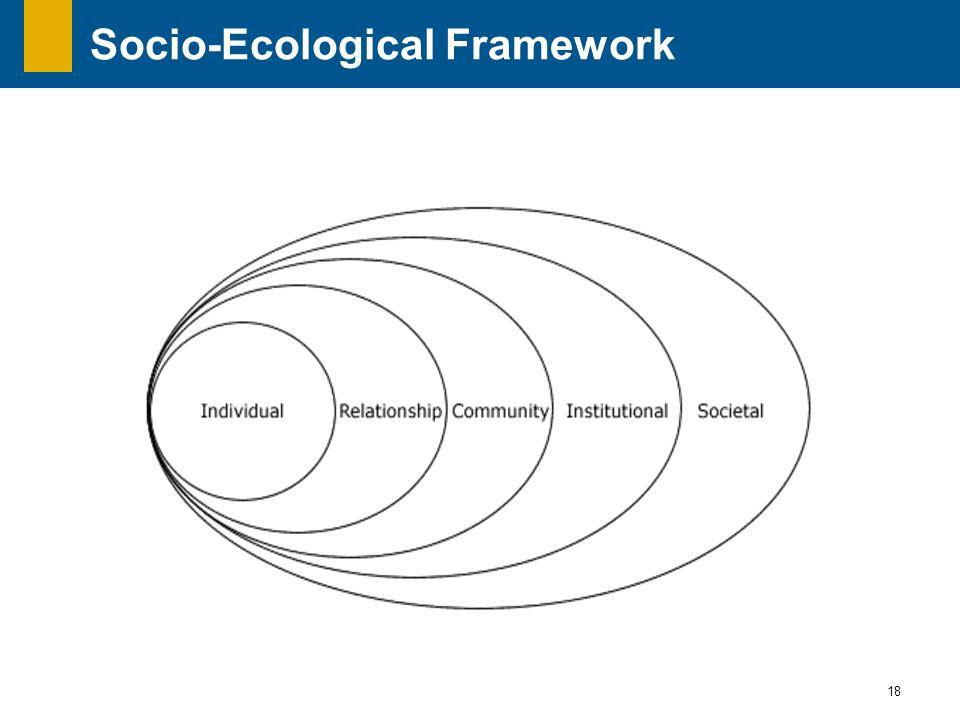 18 Socio-Ecological Framework
