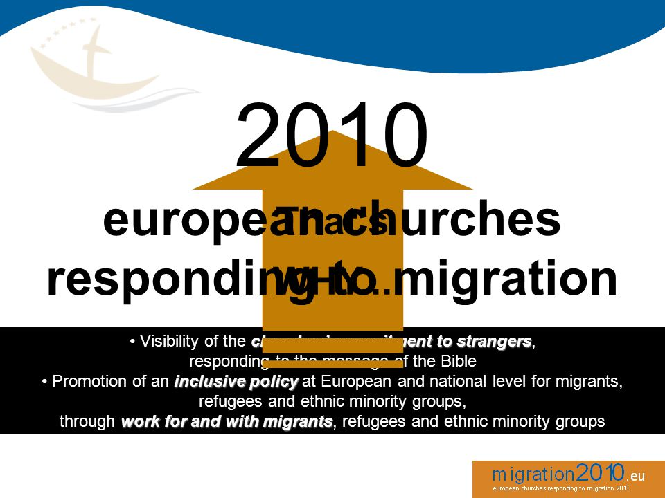 Visibility of the c cc churches' commitment to strangers, responding to the message of the Bible Promotion of an i ii inclusive policy at European and national level for migrants, refugees and ethnic minority groups, through w ww work for and with migrants, refugees and ethnic minority groups Visibility of the c cc churches' commitment to strangers, responding to the message of the Bible Promotion of an i ii inclusive policy at European and national level for migrants, refugees and ethnic minority groups, through w ww work for and with migrants, refugees and ethnic minority groups That's WHY...