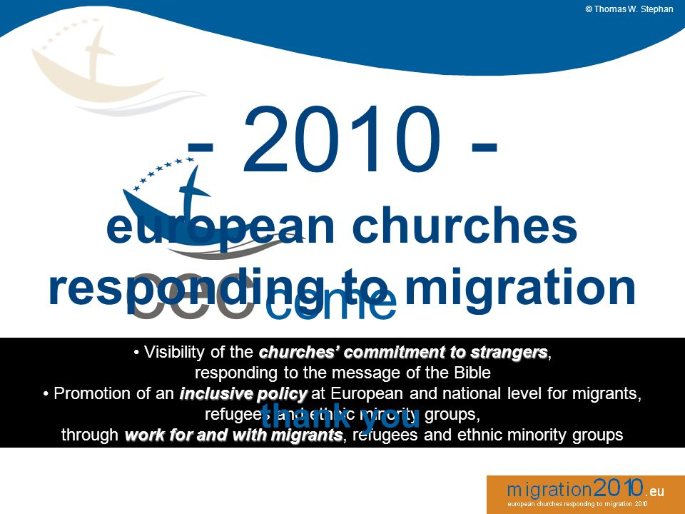 cec ccme churches' commission for migrants in europe - 2010 - european churches responding to migration © Thomas W.