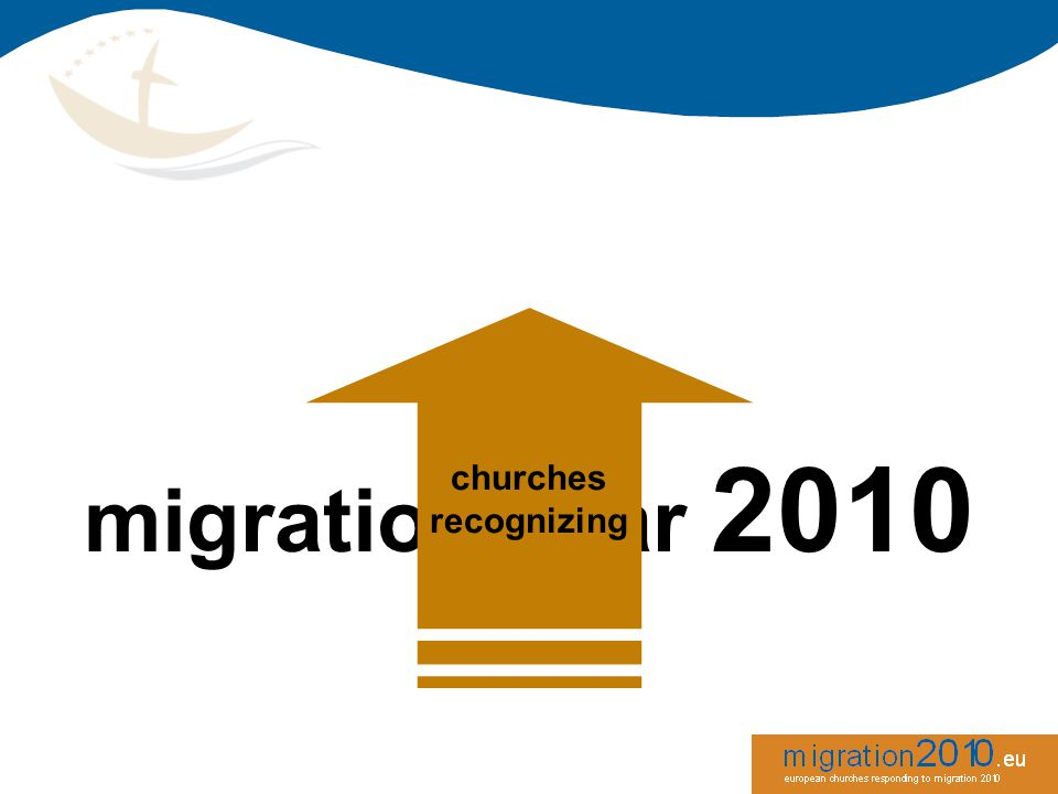 migration is posing challenges to societies, political institutions and churches obligation on churches and each christian to welcome the stranger migration is an overall reality in society today R A T I O N A L E churches recognizing sociallytheologicallyhuman rights