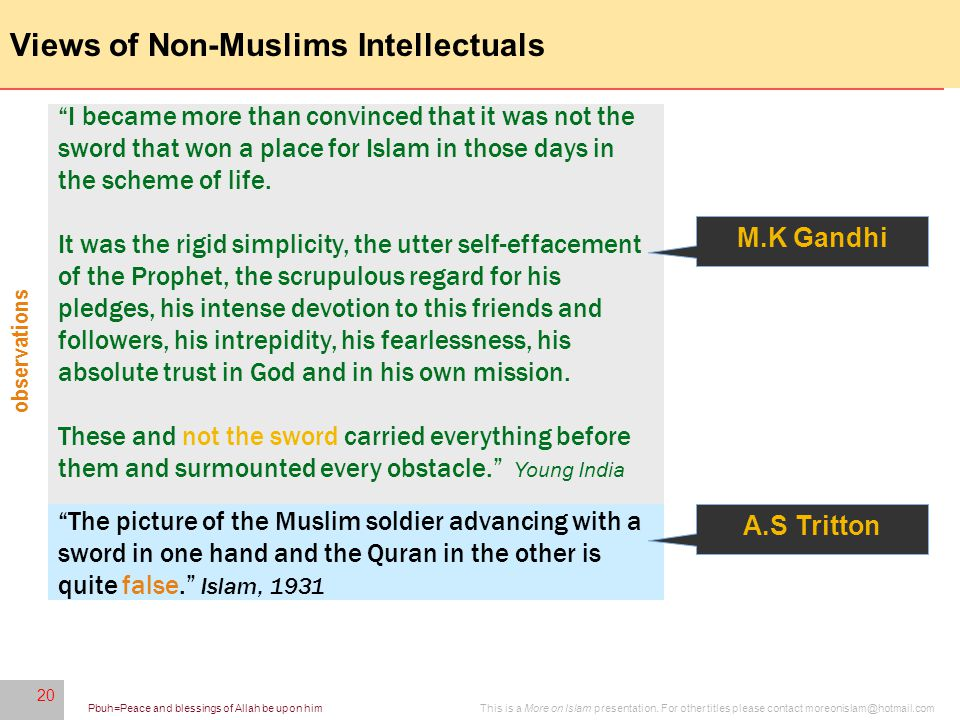 20 This is a More on Islam presentation.
