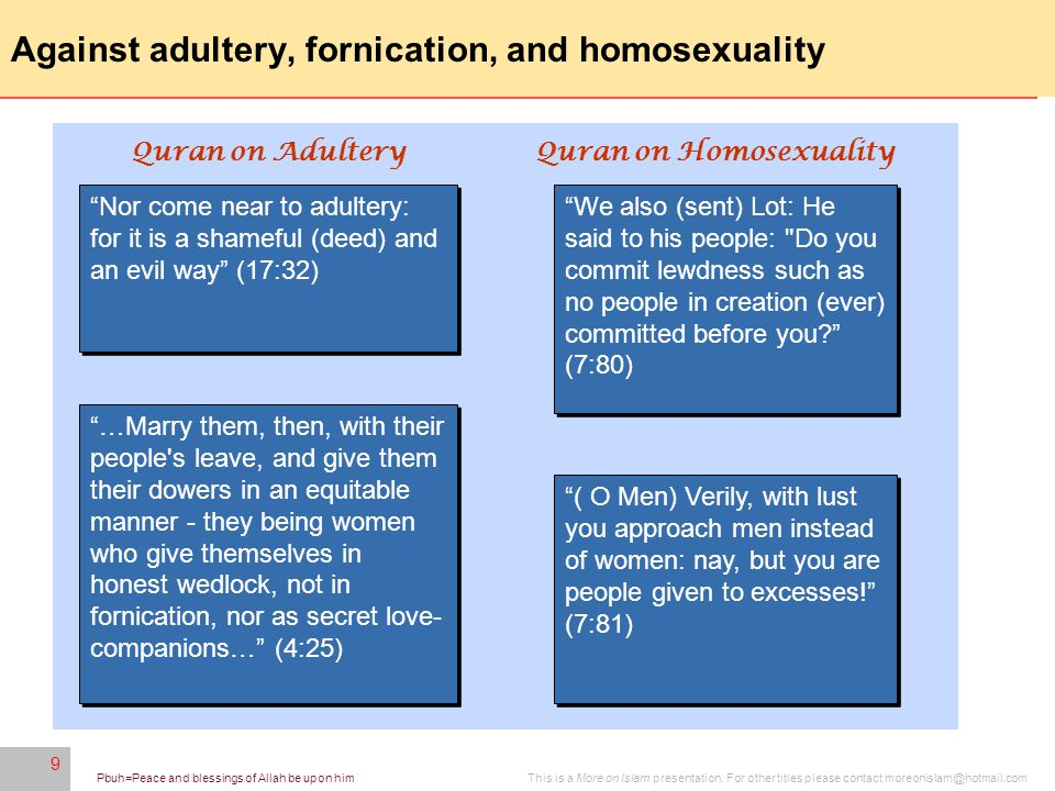 9 This is a More on Islam presentation.