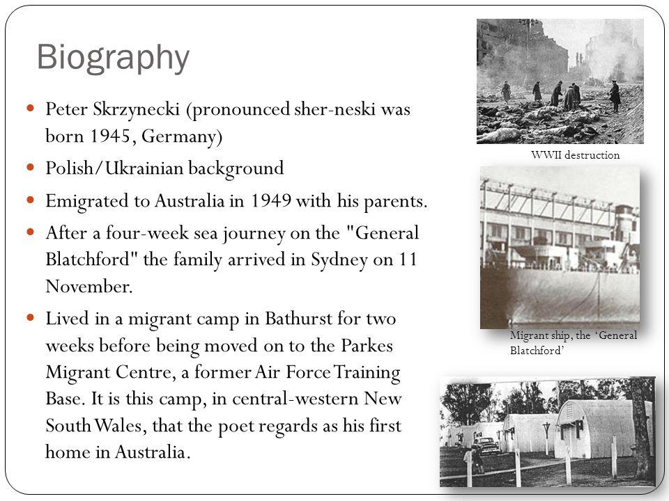 peter skrzynecki migrant hostel essay
