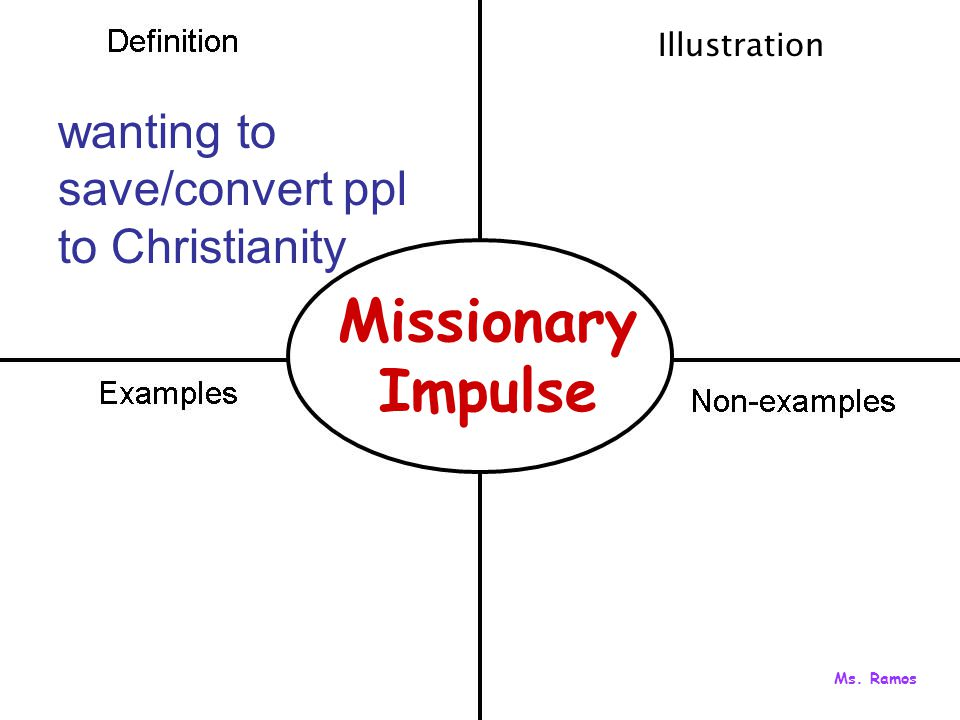 Missionary Impulse wanting to save/convert ppl to Christianity Illustration Ms. Ramos