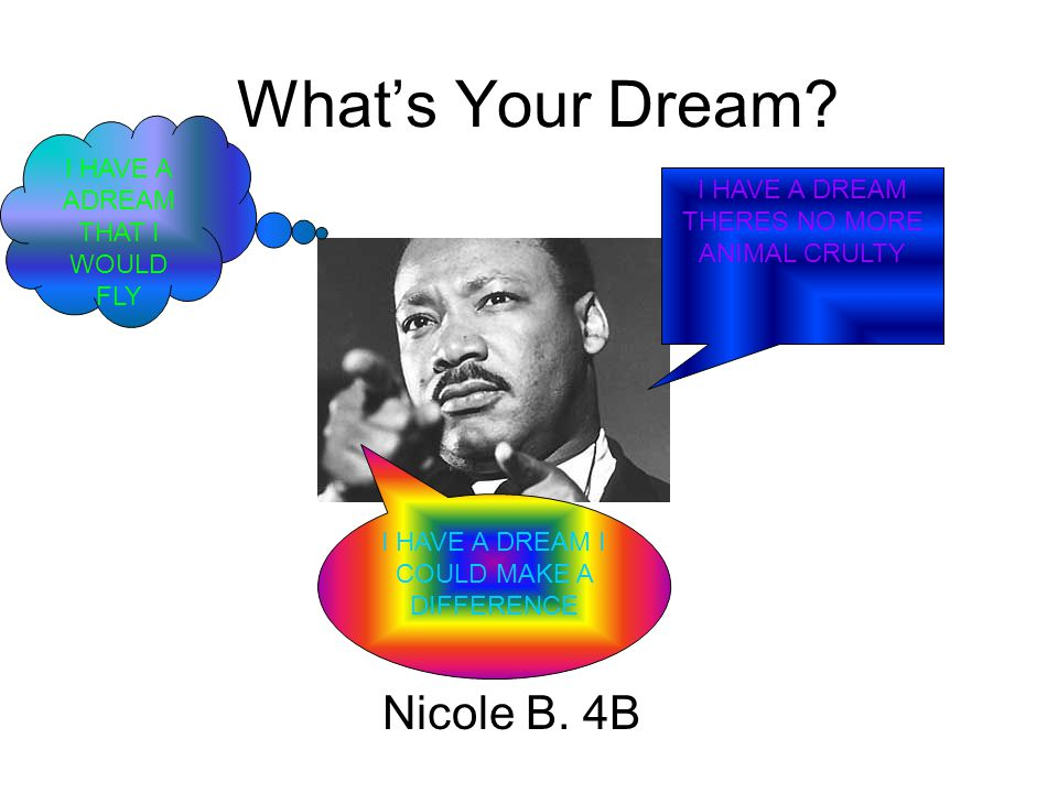 What's Your Dream. Nicole B.