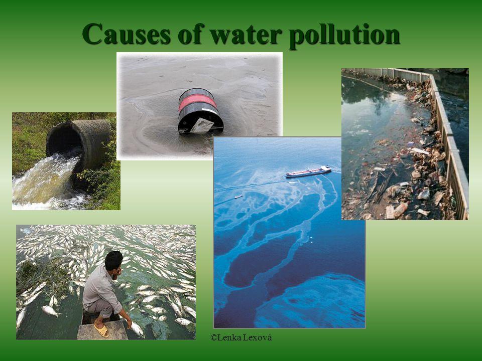 ©Lenka Lexová Causes of water pollution