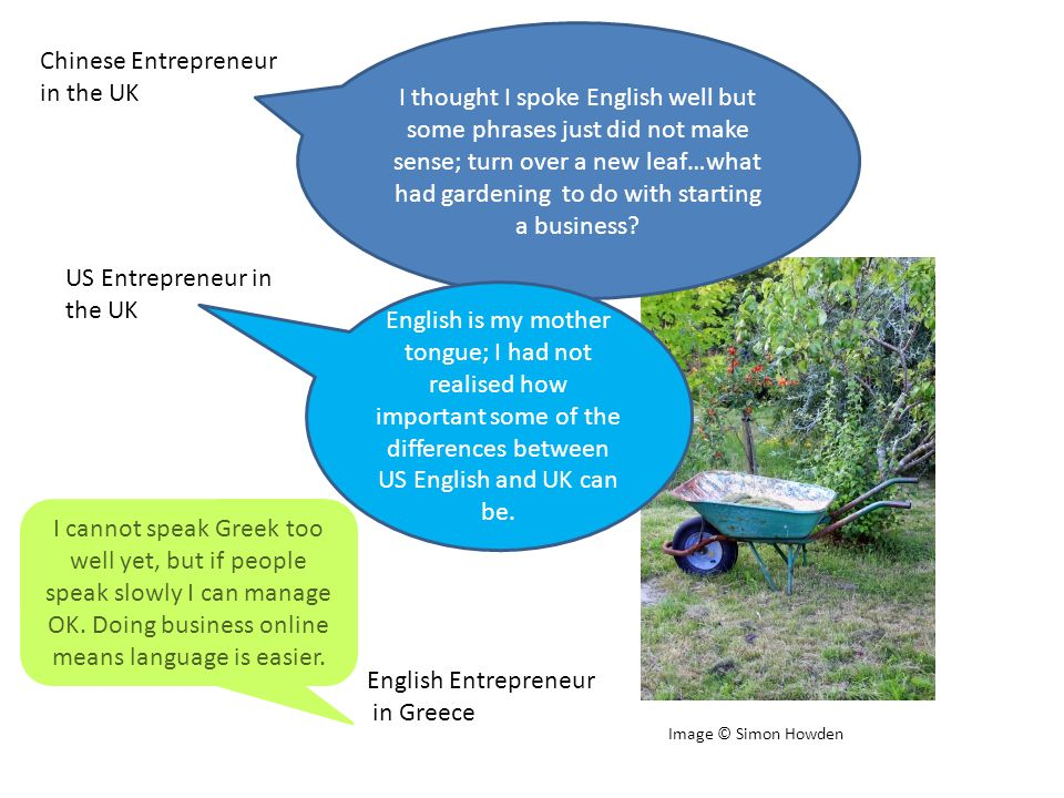 I thought I spoke English well but some phrases just did not make sense; turn over a new leaf…what had gardening to do with starting a business.