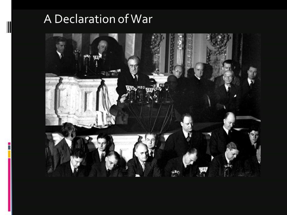 A Declaration of War