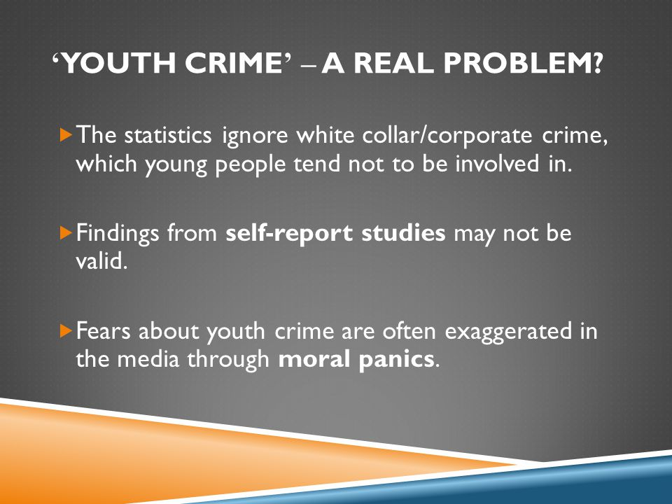 ' YOUTH CRIME ' – A REAL PROBLEM.