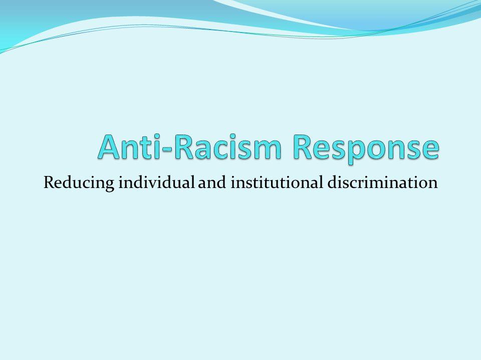 Reducing individual and institutional discrimination