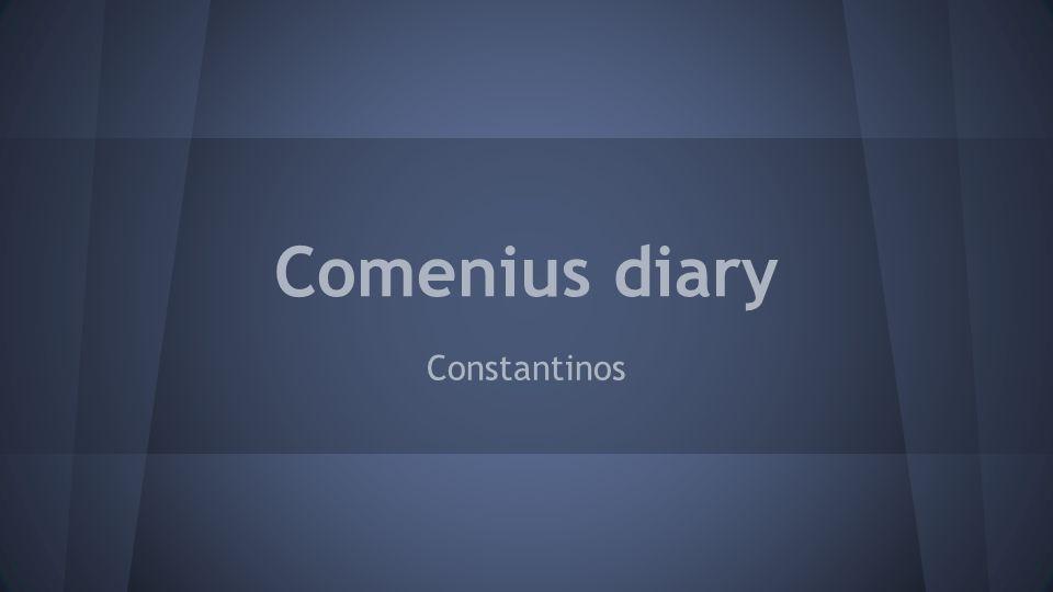 Comenius diary Constantinos