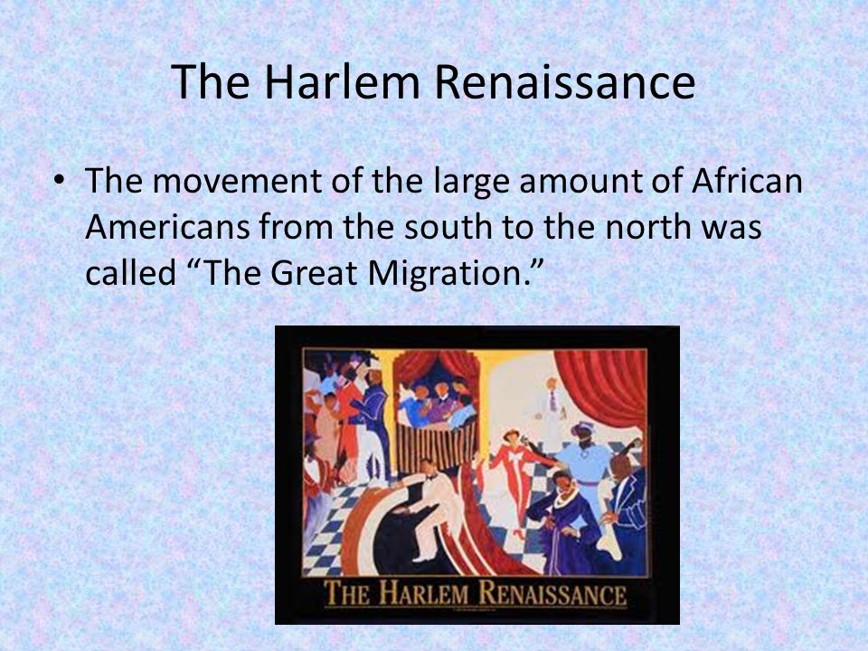The Harlem Renaissance Major Events In 1920 the Universal Negro Improvement Association(UNIA) Convention held at Madison Square Gaurden.